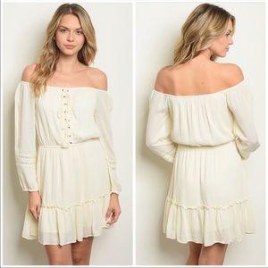 TRENDY Off-Shoulder Boho Dress